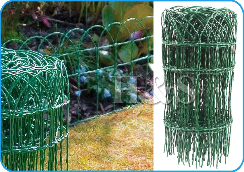 High Qulity 400mm X 10m Strong PVC Coated Wire Garden Border Fencing Edging M