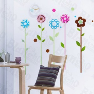 TALL FLOWERS   Baby & Kids Removable Wall Sticker Decal