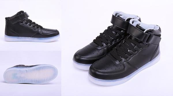LED Schuhe Farbwechsel RGB USB Leuchtschuhe Tanzschuhe Sneaker 7 ...