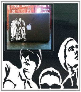 Beastie boys laptop car truck vinyl decal skin sticker ebay for Beastie boys mural