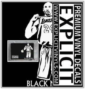 Kobe Bryant Black Mamba Laptop Car Vinyl Decal Skin Ebay