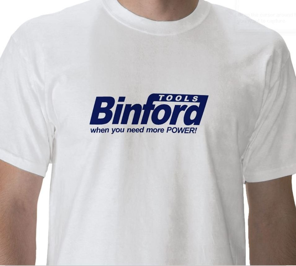 Home Improvements BINFORD Tool Company Funny T Shirt