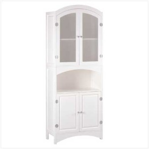 details about white linen bathroom towels storage wood cabinet