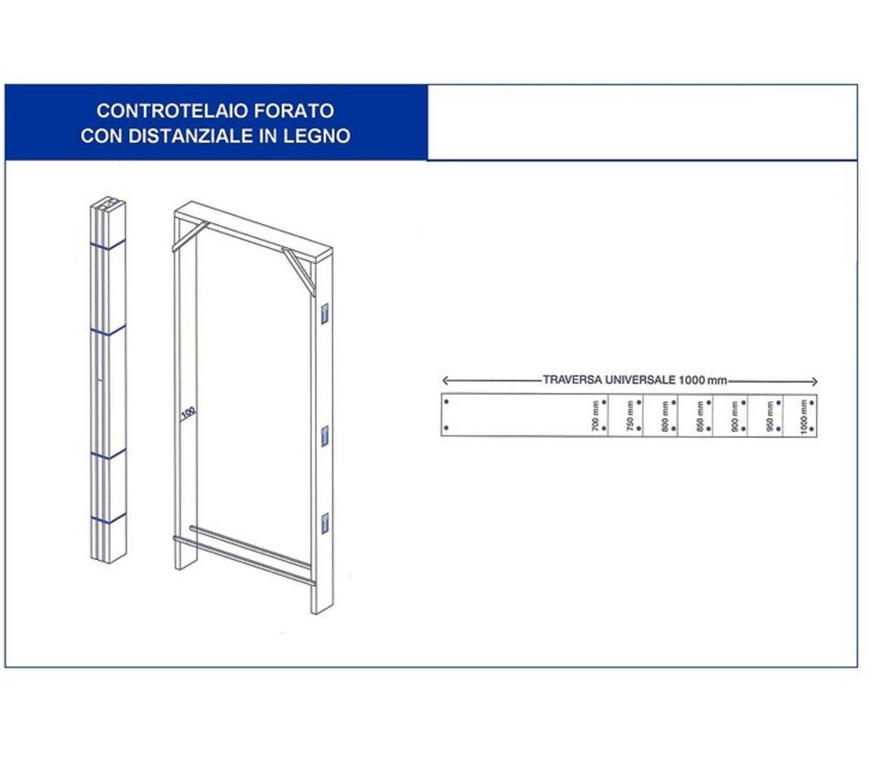 Controtelaio abete universale per porta battente da 60 a - Controtelaio porta battente ...