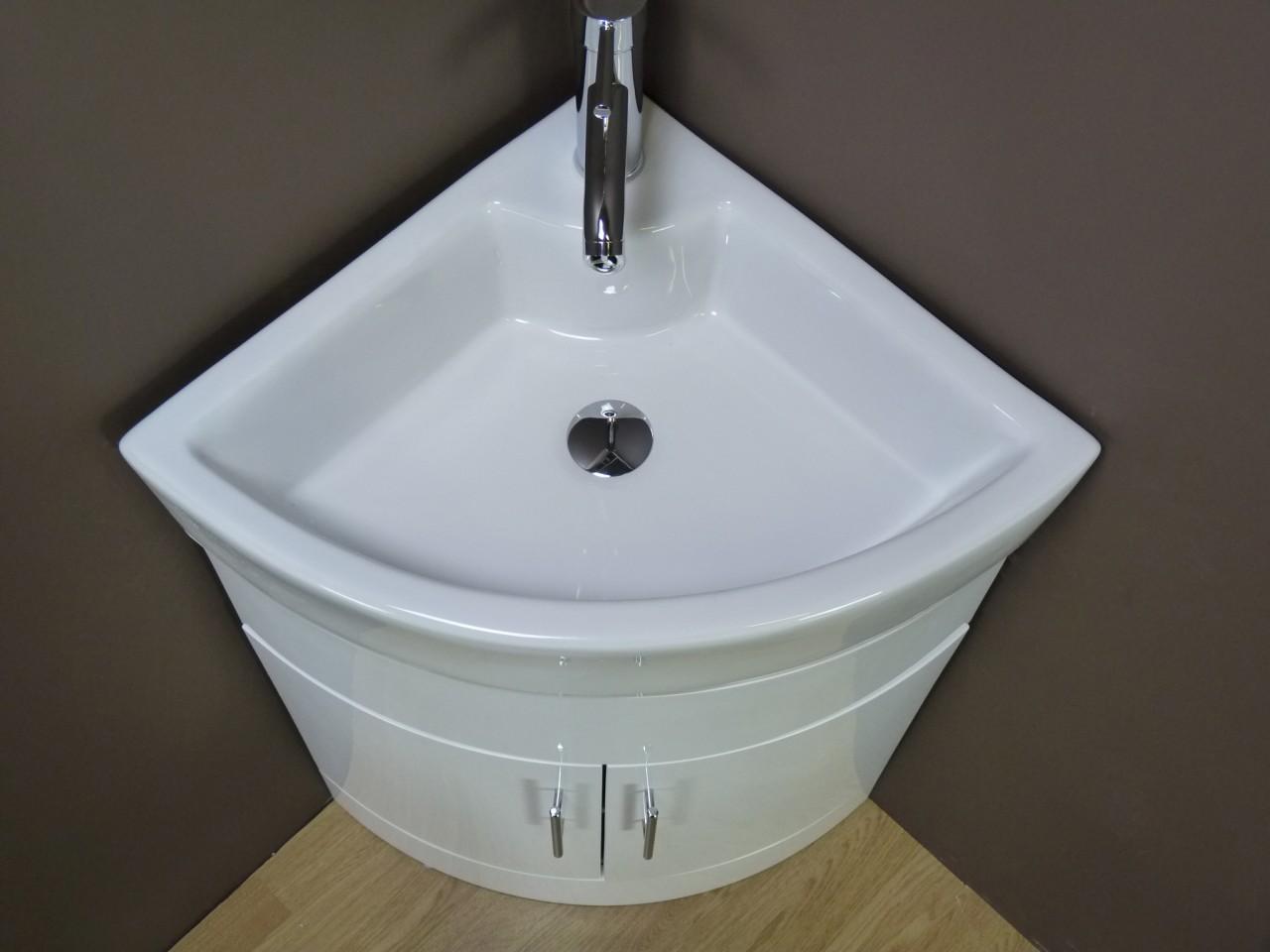 Vanity unit cabinet bathroom basin corner floorstanding - Corner sink and vanity unit ...
