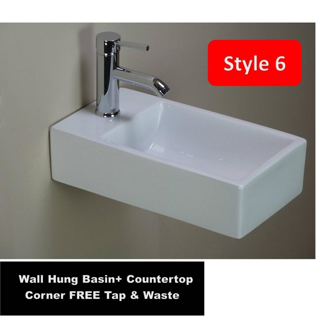... Bathroom Ceramic Vanity Wall Hung Countertop Corner Cloakroom Wash