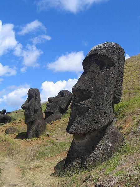 moai mike easter island garden moai statue very heavy. Black Bedroom Furniture Sets. Home Design Ideas