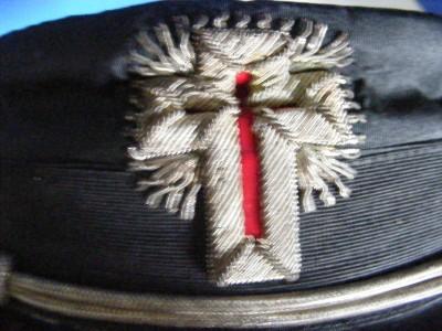 vintage masonic templar hat by henderson ames co