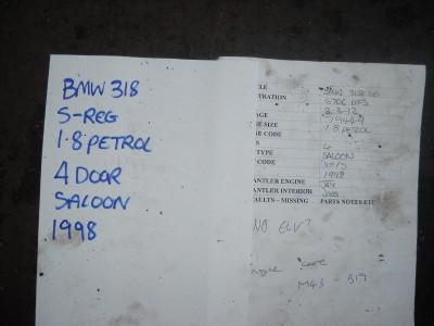 BMW 318 SE E46 3 Series Business Radio Cassette Player Head Unit No