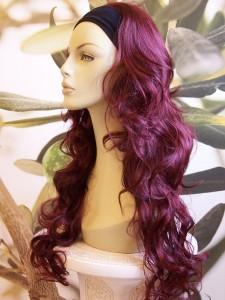 Dark Burgundy Red Plum 3 4 Ladies Wig Fall Hair Piece Extension 27