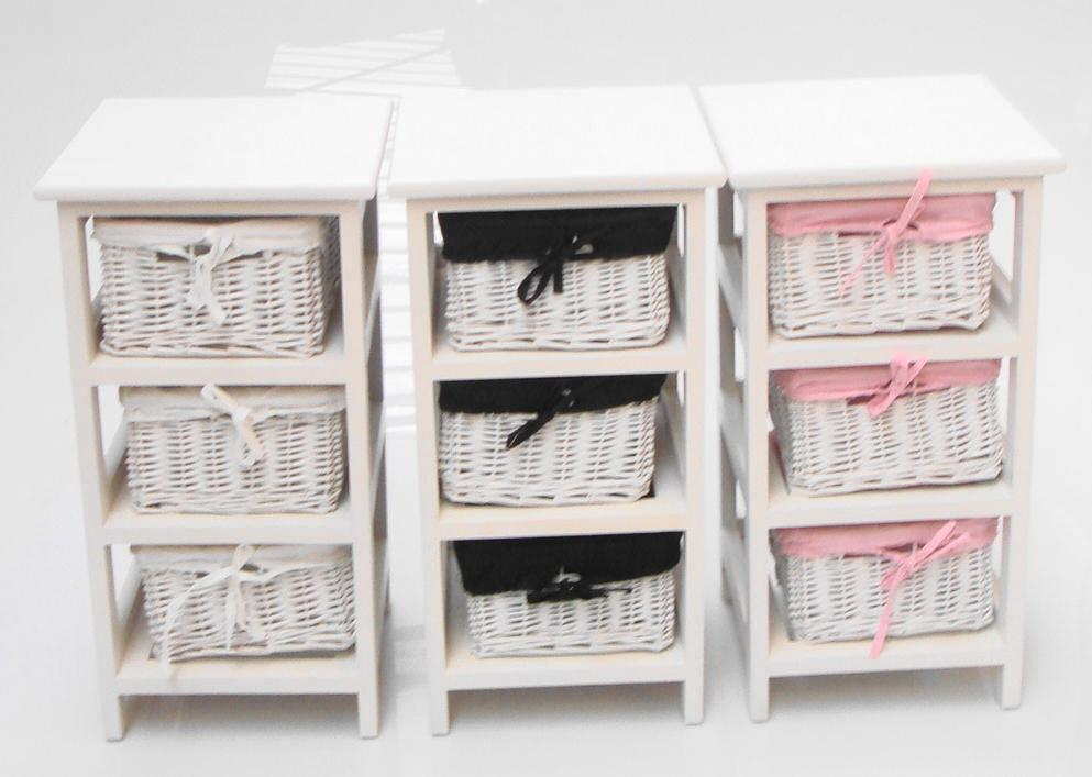White Shabby Chic Narrow Bedside Cabinet Baby Nursery Kids