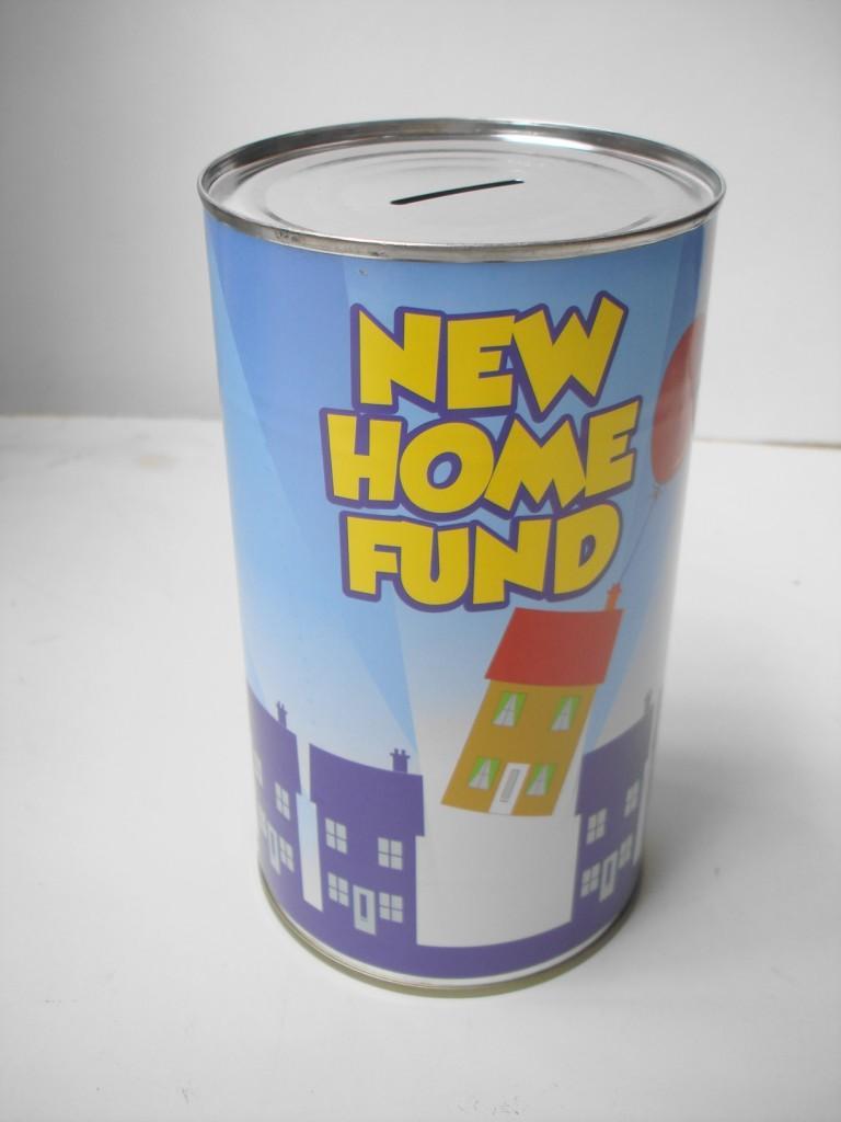 Large money box jar tin saving cash can piggy bank great for How to open a tin piggy bank