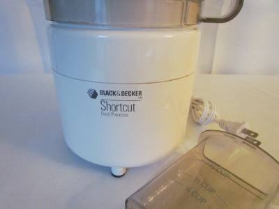 Black And Decker Shortcut Food Processor Cfp