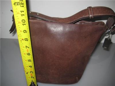 COACH Signature Handbag NO G2J  9186 BROWN LEATHER HOBO BAG