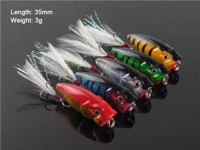 5 X Fishing Small Size Popper Lures For Estuary Surface ...