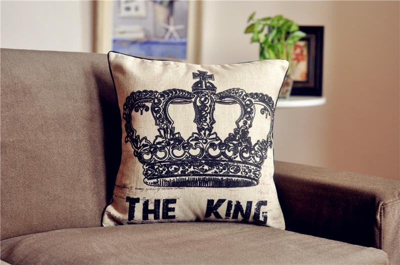 King And Queen Decorative Pillows : 18