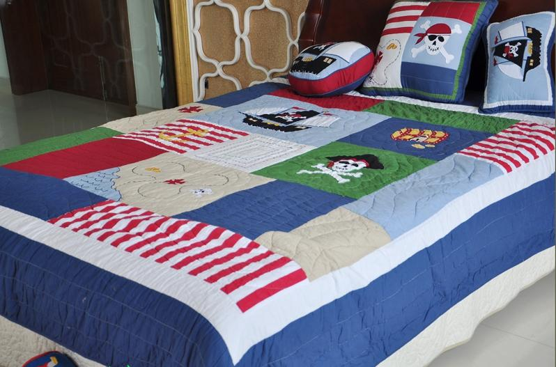Twin Kids Pirate Of Caribbean Cotton Quilted Coverlet. Pirate Bed Linen  Australia Malmod Com For