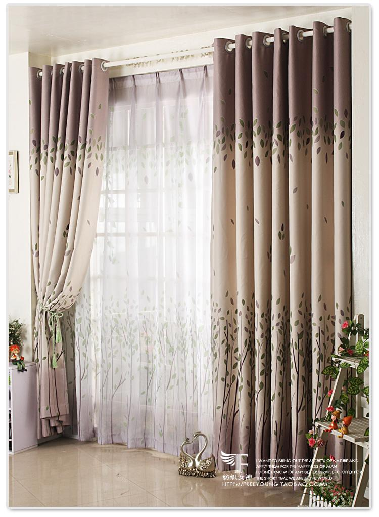 Country floral the leaves blockout bedroom living room curtain customizable ebay - Tende ikea soggiorno ...