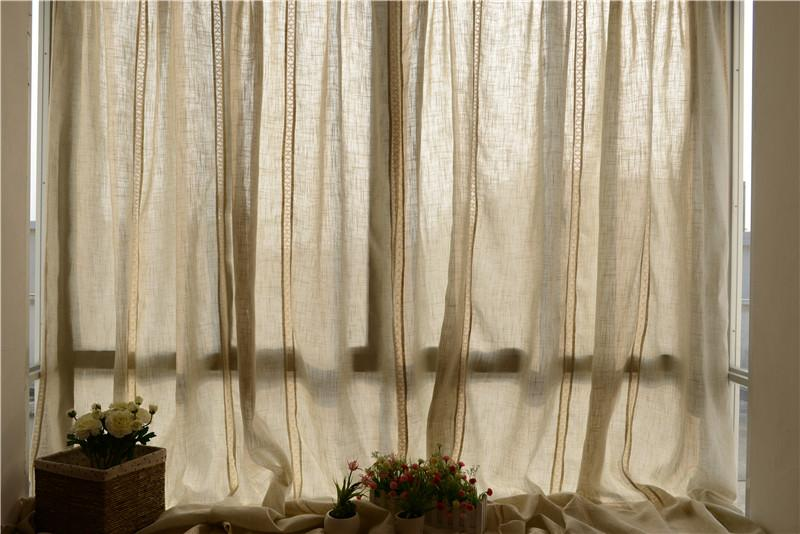 French Country Style Cotton Linen Cotton Crochet Lace Curtain F021 Ebay