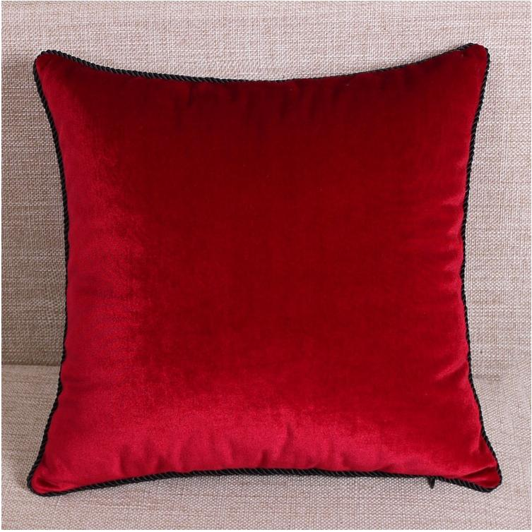 Luxurious Solid Color Velvet Throw Pillow Case Cushion Cover Pillow Sham