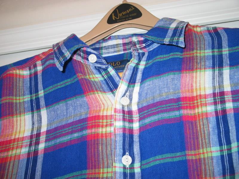 Polo ralph lauren mens shirt nwt reg 145 big tall red blue for Mens 4xlt flannel shirts
