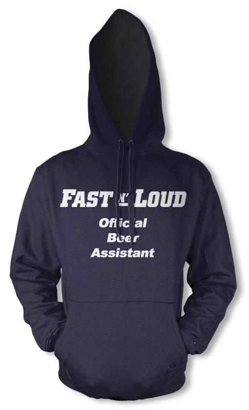 BNWT-Fast-n-Loud-assistente-di-birra-adulto-stampa-sul-davanti-personalizzata-Auto-Felpa-Con