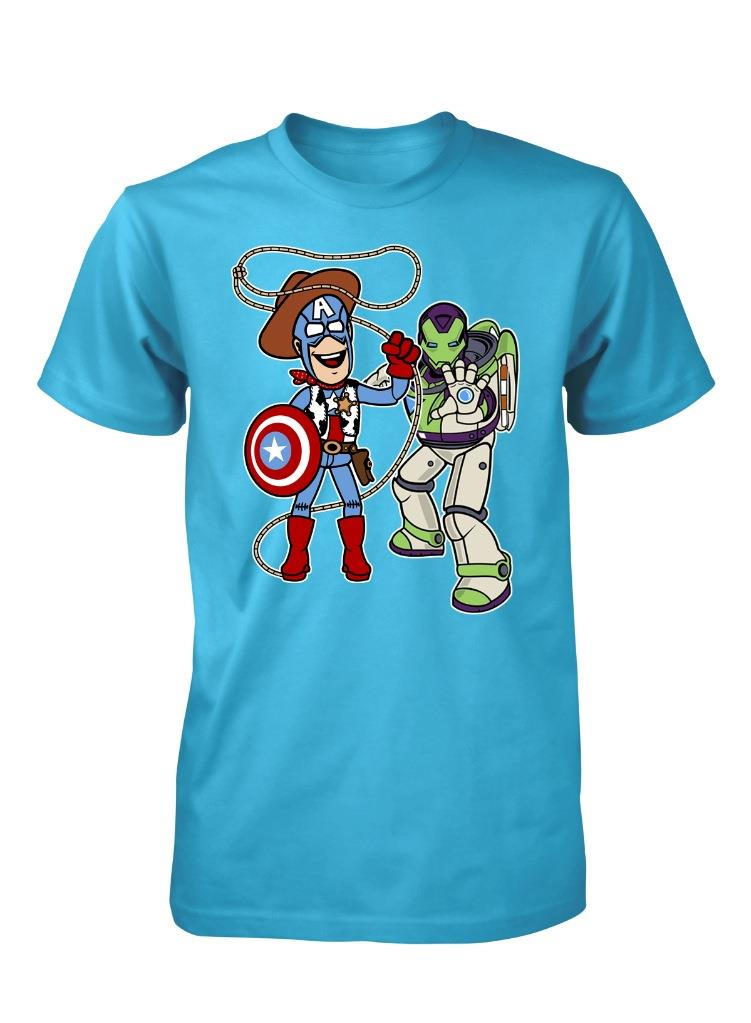 Bnwt Buzz Lightyear And Woody Toy Story Avengers Mix Up