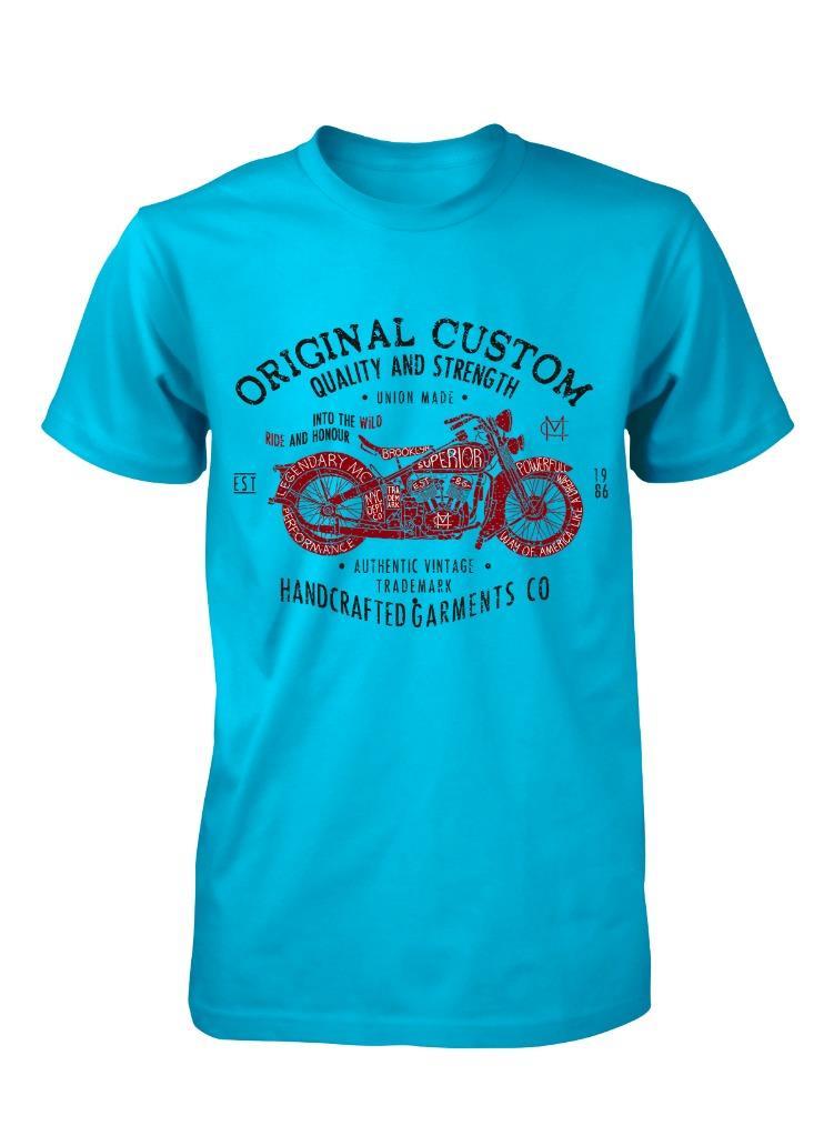 Bnwt-Original-Personnalise-Vintage-Moto-Qualite-Enfant-T-Shirt-3-15-Ans