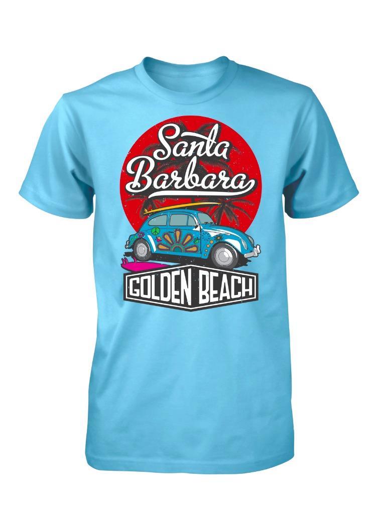Bnwt Santa Barbara Golden Beach Vw Beetle Adult T Shirt S