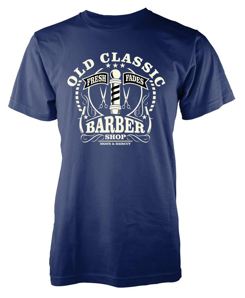 Bnwt Old Classic Barber Shop Haircut Shave Adult T Shirt S Xxl Ebay