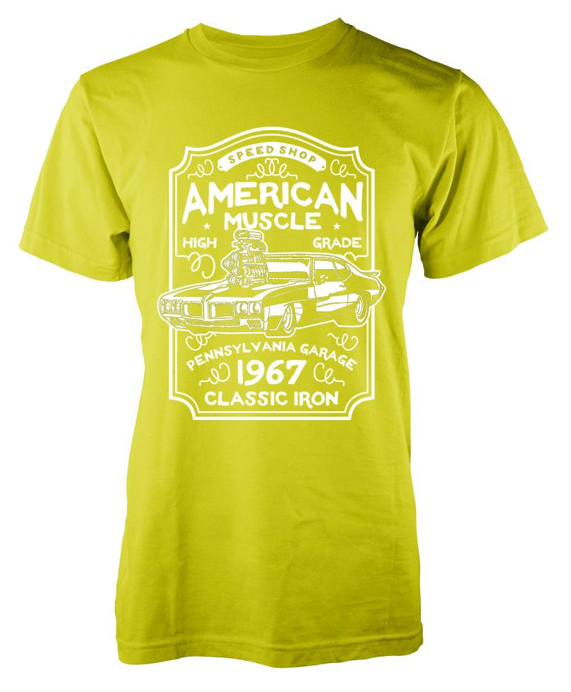 Bnwt american muscle car classic iron hot rod vintage for All american classic shirt