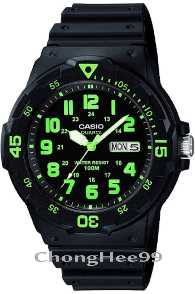 Digital Indicator With Rotatable Bezel : New casio mens mrw h resin band dive m sport watch