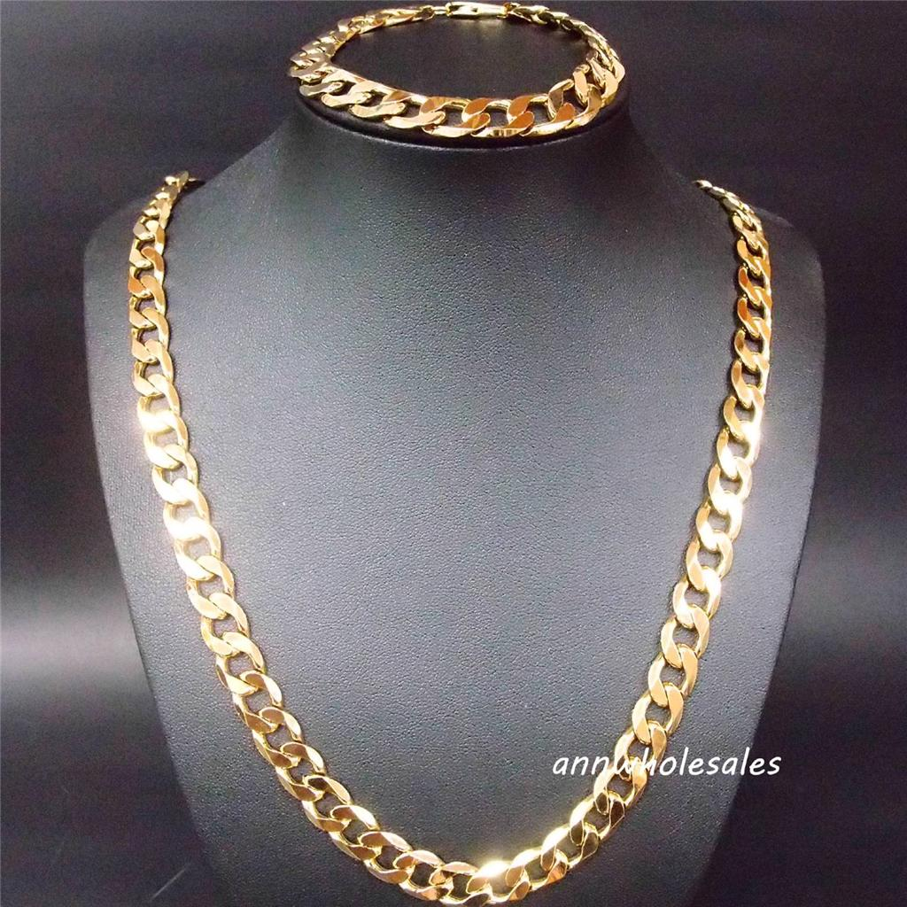 24kgl 24k yellow gold filled 24 8 5 chain link necklace for Gold filled jewelry
