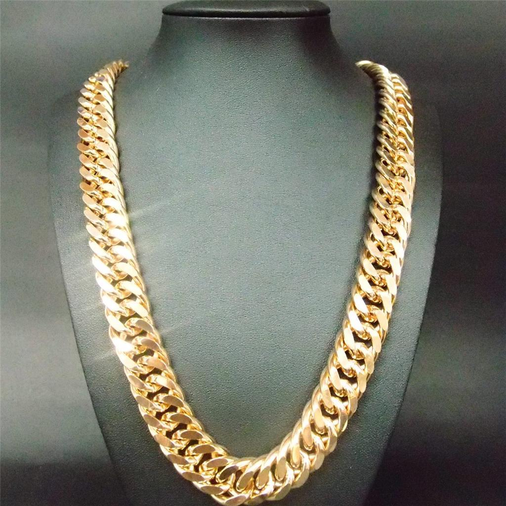 filled men necklace gold arabia souq saudi s mens en chain cuban yellow price chains product sa from