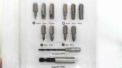 black and decker a5276 12 pc screwdriver bit set german made quality pozi slot. Black Bedroom Furniture Sets. Home Design Ideas