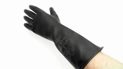 INDUSTRIAL RUBBER GLOVES GAUNTLETS SIZE 9 M9 MEDIUM WEIGHT COMASEC  ENGLAND