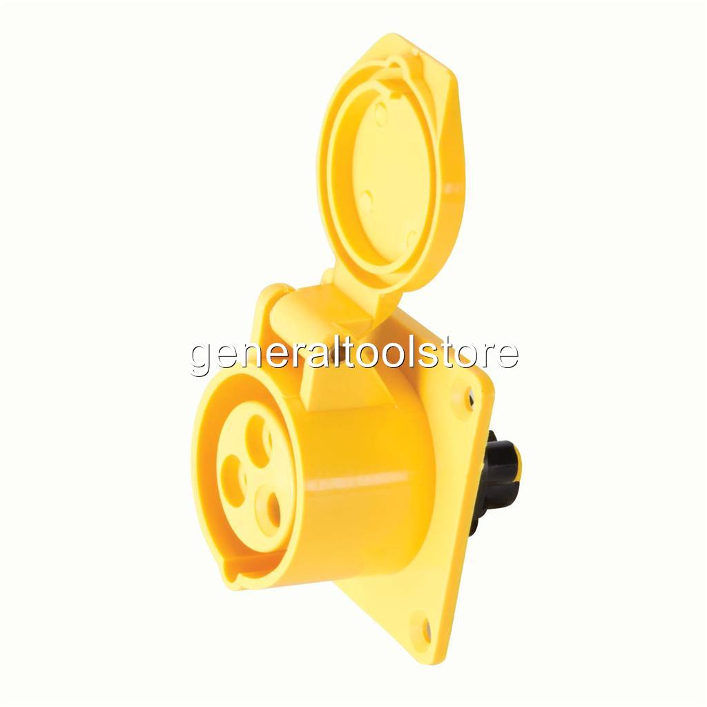 110 Amp Plug >> 16 AMP 16A 110V 110 VOLT YELLOW PLUGS, SPLITTERS AND SOCKETS WEATHER PROOF   eBay