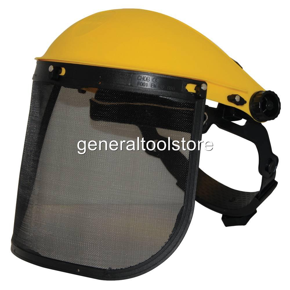 METAL MESH VISOR FULLY ADJUSTABLE BROW GUARD  HEAD FACE PROTECTION NOT HELMET