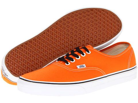 vans authentic orange