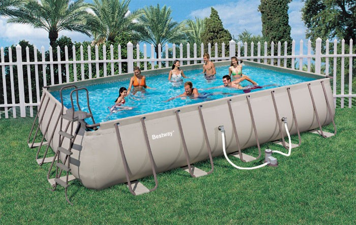 Bestway Above Ground Steel Frame Swimming Pool 22 Foot Ebay