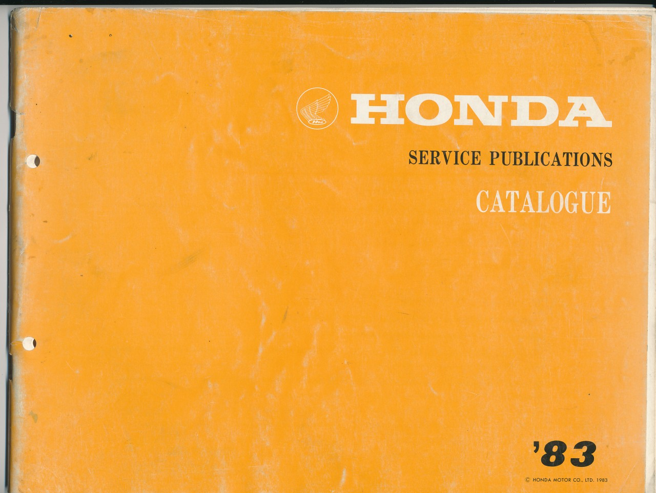 Honda-Service-Publications-Catalogue-83