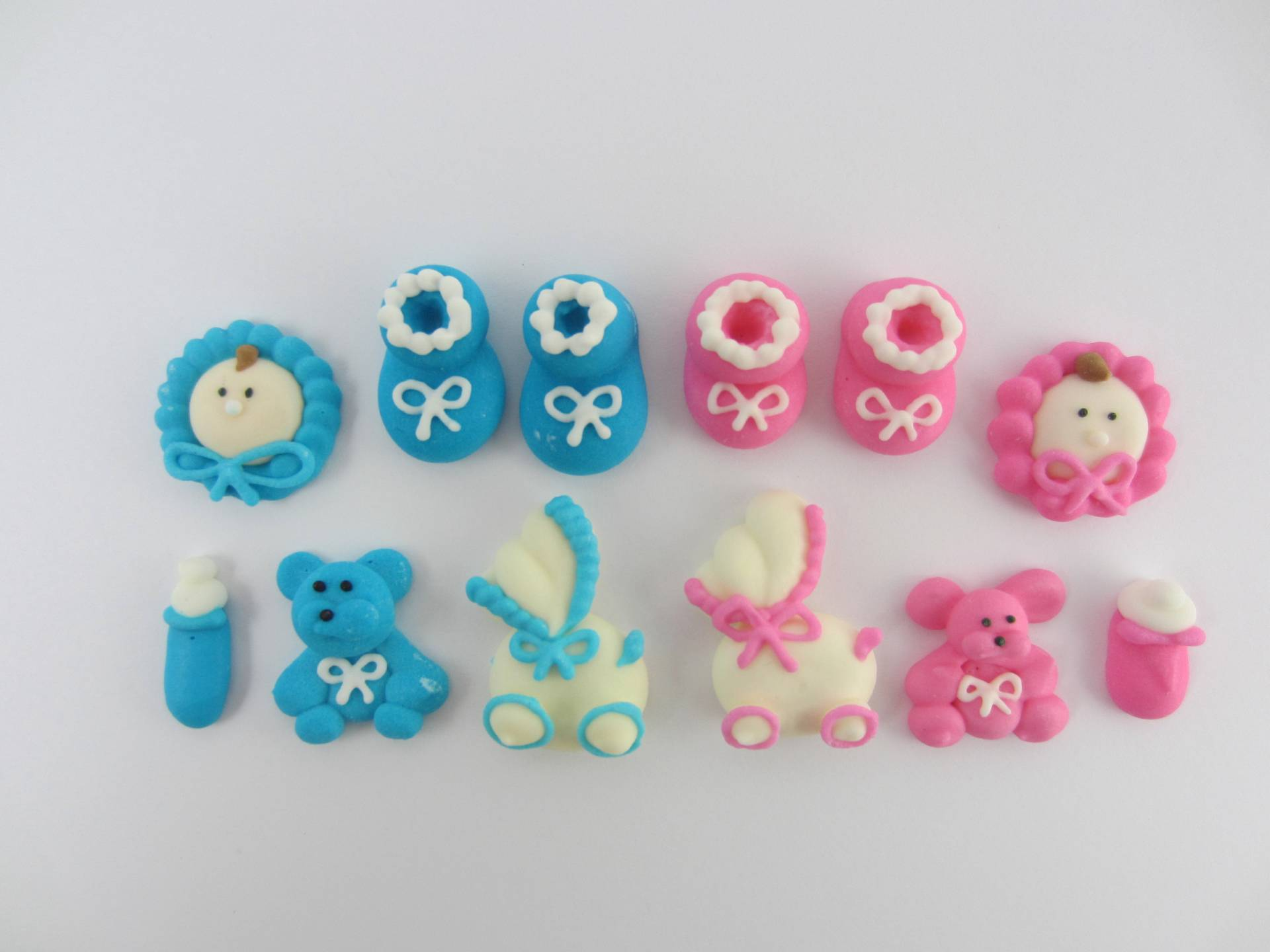 24 x baby shower edible cupcake cake toppers sugar for Baby shower cupcake decoration
