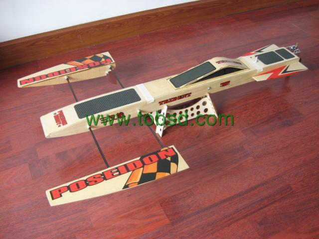 ARTR 31.6 RC EP Wooden Trident Outrigger Rc Boat ...