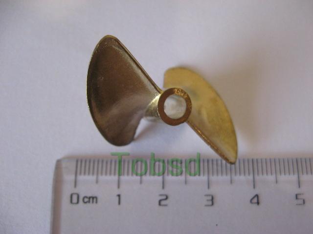 Φ4.76 x Φ38mm RC EP Boat Copper Propeller