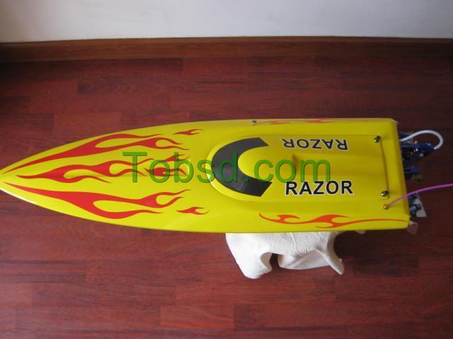 ARTR Yellow Blade Brushless Electric Fiberglass RC Speed Boat