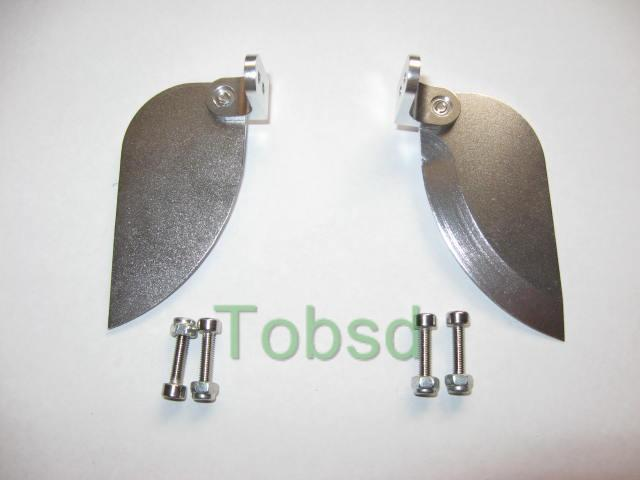 Turn fins 60mm x 30mm for  electric rc boat