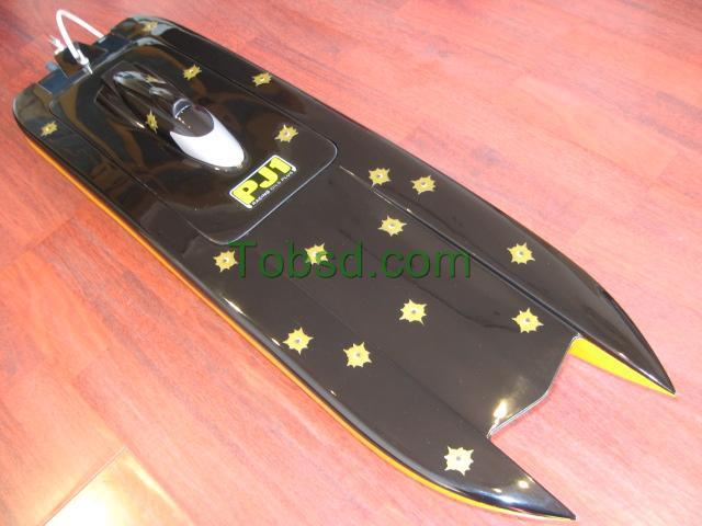 Black ghost  Catamaran EP Fibreglass RC Racing Boat Ship ARTR