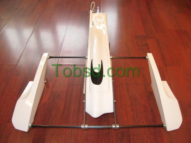 28''  White  Poseidon Kit FibreGlass Outrigger Hydroplane Hydro Rigger Rc Boat