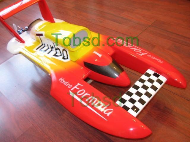 27.5 inches RC Electric FibreGlass Hydroplane hydro ARTR Boat