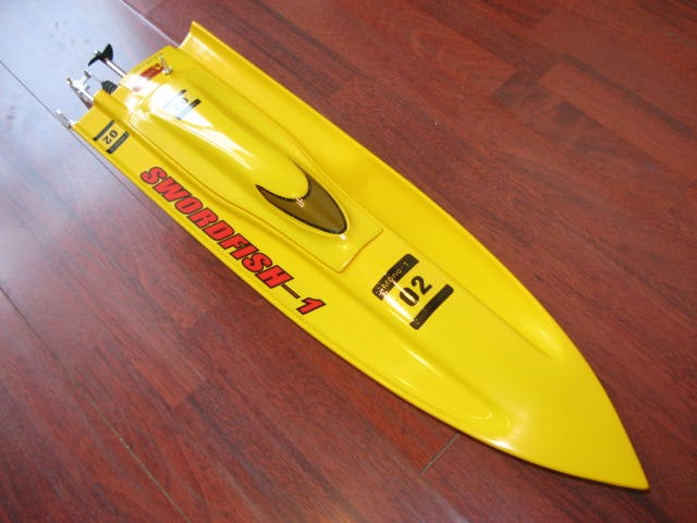 29 inches Yellow Thunder EP Fibreglass Mono 1 Kit Racing Boat